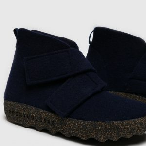 CASE Boots with Velcro Navy Blue