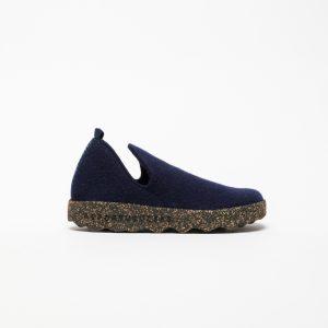 FELT Boots with Velcro Navy Blue