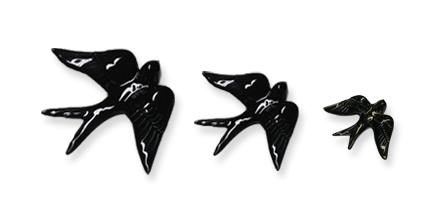 Andorinhas em preto